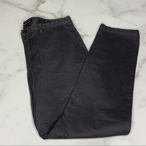 Michael Kors Gray Slim Fit Ribbed Pants 34 A1 0013